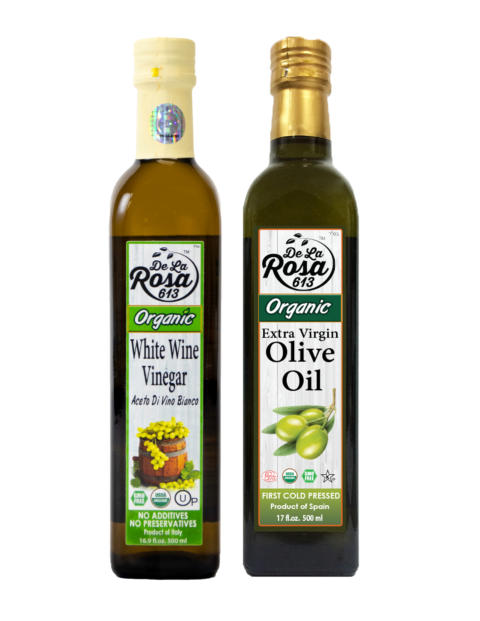 white and evoo